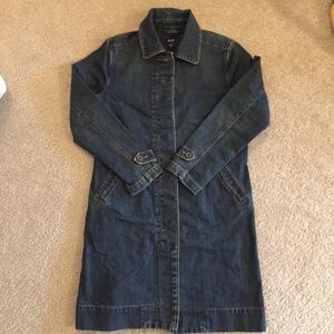 GAP Denim Trench Duster Coat